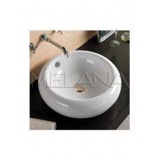 800-7069 (3010) Фигурный умывальник (белый) круглый 500Х165MELANA