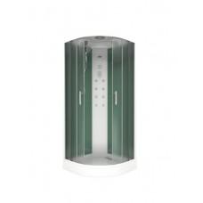 Душевая кабина АДРИЯ 900*900 (бел. классик, бел.пульт) шторка грейп, 3 коробки (ДК00001)