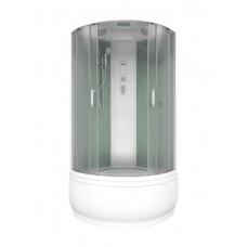 Душевая кабина АРОНА ЭКО 100х100 (бел. классик), шторка грейп, 3 коробки (ДК00010)