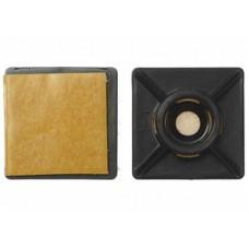 Самокл. площадка 27х27 черная (20шт) - пакет Tech-Krep