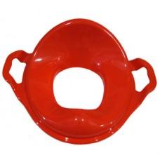 Насадка на унитаз детская с ручками пластик (красный)