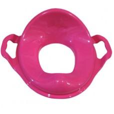 Насадка на унитаз детская с ручками пластик (малина)