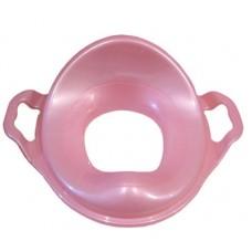 Насадка на унитаз детская с ручками пластик (розовый)