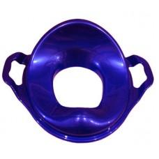 Насадка на унитаз детская с ручками пластик (фиолет.)