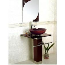Раковина стеклянная F12329-8 темно-коричневая  (3 части)