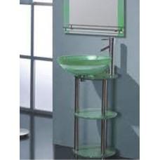 Раковина стеклянная F13032-14 зеленая 50*42 (1 часть)