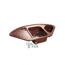 Мойка GRANFEST GF-C1040E 1,5 чаши, угловая 1040*570 мм (красный марс-334)