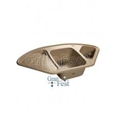 Мойка GRANFEST GF-C1040E 1,5 чаши, угловая 1040*570 мм (песочный-302)