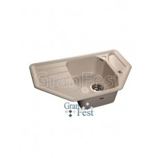 Мойка GRANFEST GF-C800E угловая 800*500 мм (белый - 331)