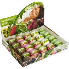 Бурлящие шары д/ ванны(липа,шоколад,клубника,малина,зел.чай)в дисп-боксе,120г.