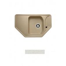 Мойка GRANICOM G-002 (785*495мм), угловая  (жасмин-белый)