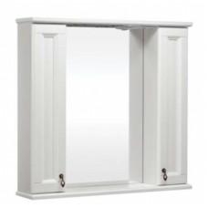 Зеркало ВАРНА 105 со шкафчиками, Слоновая кость/9001 (BAS)