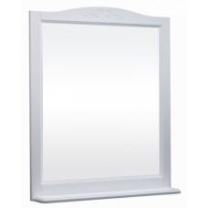 Зеркало ВАРНА 85 (в рамке с полочкой) Слоновая кость/9001 (BAS)