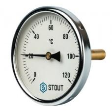 SIM-0001-107515 STOUT Термометр биметаллический с погружной гильзой. Корпус Dn 100 мм, гильза 75 мм