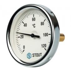 SIM-0001-805015 STOUT Термометр биметаллический с погружной гильзой. Корпус Dn 80 мм, гильза 50 мм 1