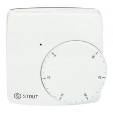 STE-0002-000004 STOUT Проводной электронный термостат WFHT-BASIC со светодиодом (норм. закр.)