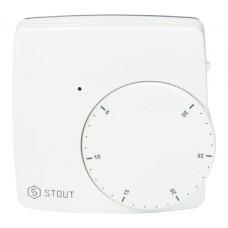 STE-0002-000010 STOUT Термостат комнатный электронный WFHT-DUAL включ. дистанционный датчик «в пол»