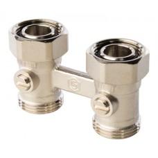 SVH 0002 000020 STOUT Узел нижнего подключения радиатора для двухтрубной системы, прямой 3/4