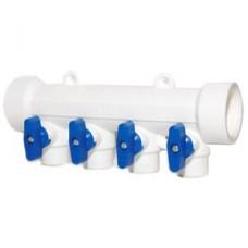 Коллектор с отсечными кранами 40 вн х 4 вых. 20 вн PP-R VALTEC (VTр.780.0.402004)