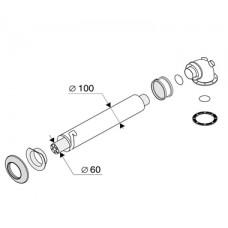0020056510 (7194) PROTHERM Горизонтальная система DN 60/100 мм - 1 м