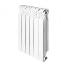 Global ISEO 350 14 секций радиатор алюминиевый боковое подключение (белый RAL 9010)