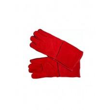 Краги сварщика спилковые красные (защита от пламени, жара, искр при сварочных работах)