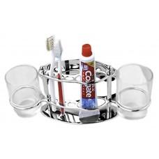 101/L Держатель для зубной пасты, щеток + 2 стакана