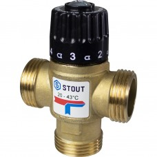 """SVM-0120-164325 STOUT Термостатический смесительный клапан для систем отопления и ГВС. G 1"""" M"""