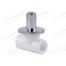 Вентиль 32 PP-R г/г хромированный (бел.)