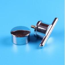Ручка дверная пластик хром, РДП-02