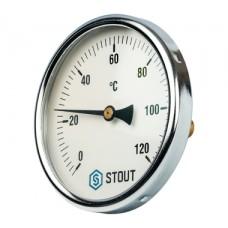 SIM-0001-105015 STOUT Термометр биметаллический с погружной гильзой. Корпус Dn 100 мм, гильза 50 мм