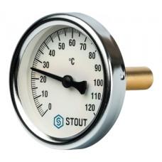 SIM-0001-635015 STOUT Термометр биметаллический с погружной гильзой. Корпус Dn 63 мм, гильза 50 мм 1