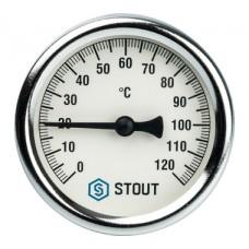SIM-0001-637515 STOUT Термометр биметаллический с погружной гильзой. Корпус Dn 63 мм, гильза 75 мм 1