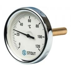 SIM-0001-807515 STOUT Термометр биметаллический с погружной гильзой. Корпус Dn 80 мм, гильза 75 мм 1
