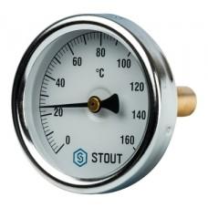 SIM-0002-635015 STOUT Термометр биметаллический с погружной гильзой. Корпус Dn 63 мм, гильза 50 мм 1