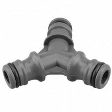 5803/ППГ-016 Муфта тройник коннектор-коннектор, пластик 1/2